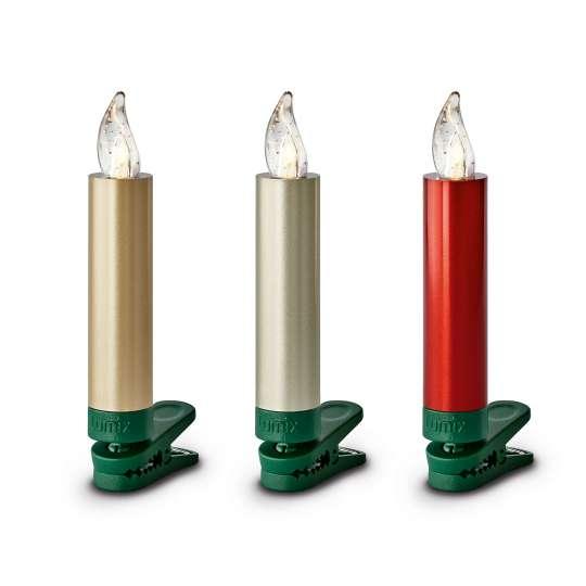 Krinner LUMIX Superlight Mini Kerzen Metallic einzeln
