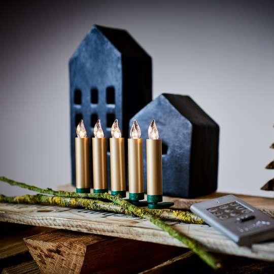 Krinner LUMIX Superlight Mini Kerzen Gold Mood