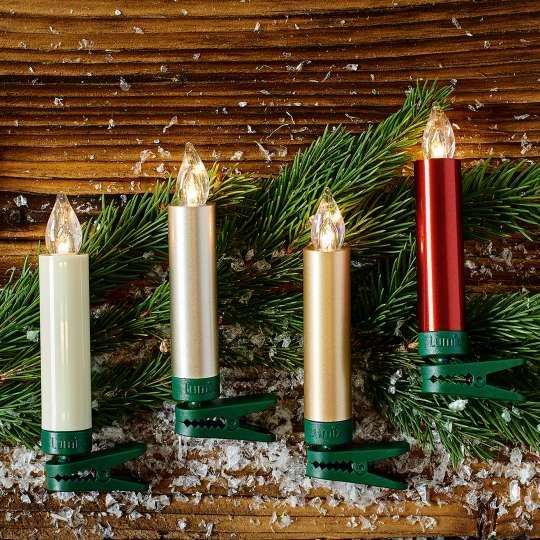 Krinner LUMIX Superlight Mini Kerzen Mettalic Gruppe