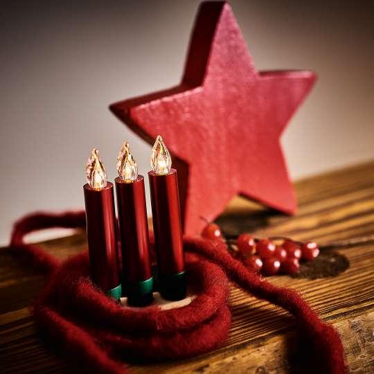 Krinner LUMIX Superlight Mini Kerzen Rot Mood