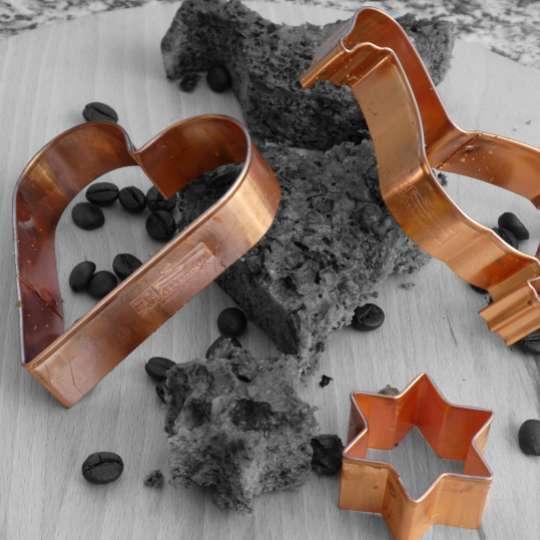 Ausstechformen in edlem Kupfer / Mood Herz, Gans, Stern