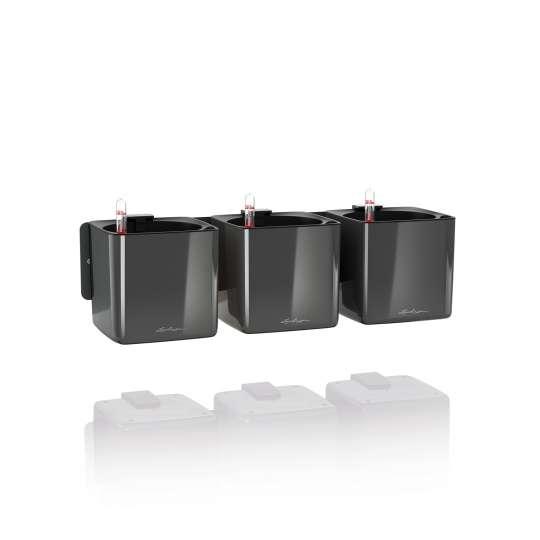 Lechuza Cube Glossy 14 anthrazit Magnetleiste Kräuterkasten