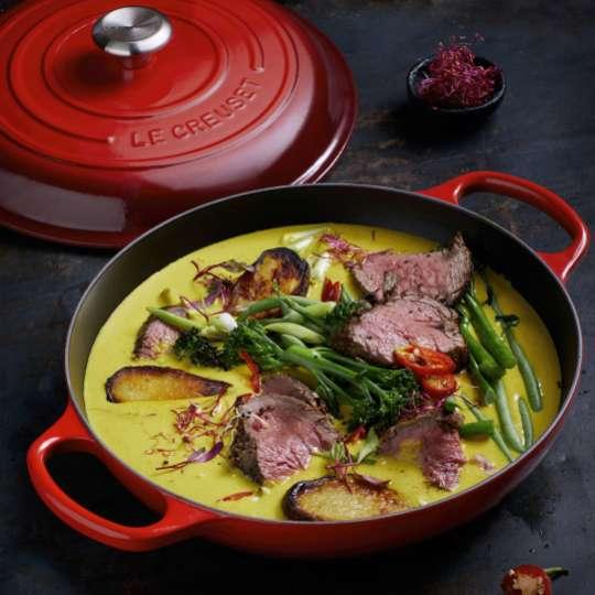 Le Creuset Gourmet-Profitopf innen schwarz Afrikanisches Curry