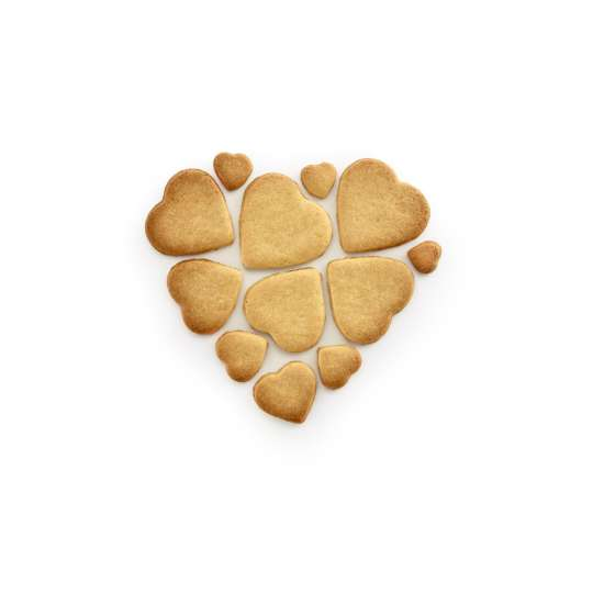 Lekue Cookie Puzzle Hearts fertige Cookies