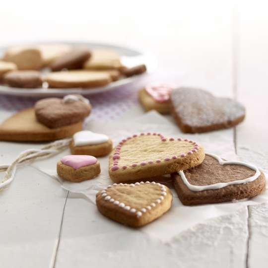 Lekue Cookie Puzzle Hearts fertige Cookies 1