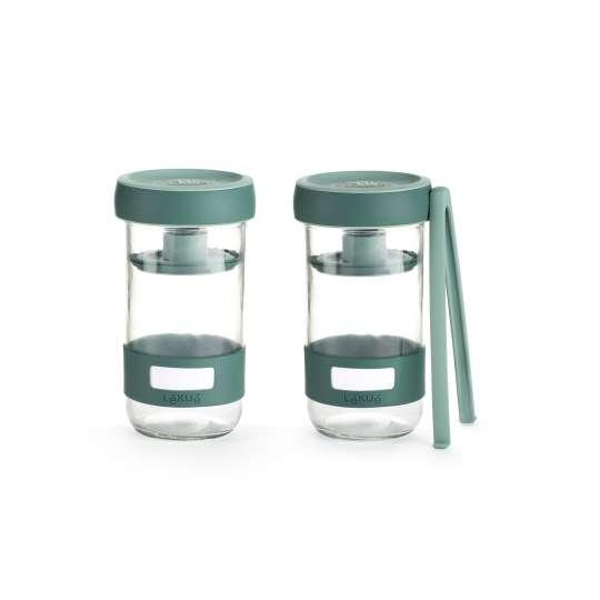 Lekue-KIT PICKLES Glas-Behälter mit Deckel und Entlüftungsventil