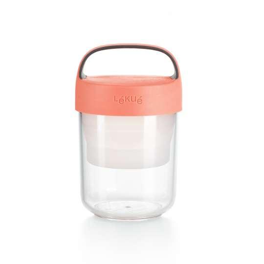 lekue - Jar to go - Lunchbox für unterwegs - rosa klein