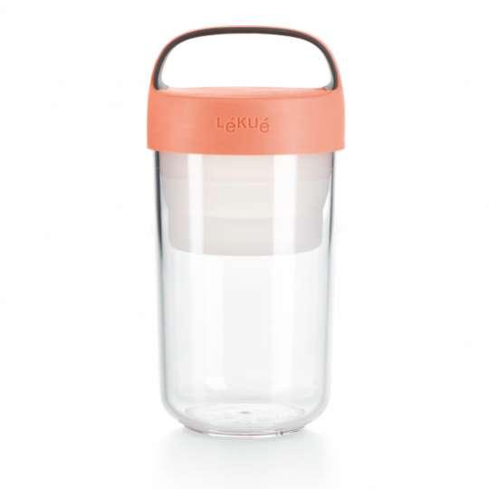 lekue - Jar to go - Lunchbox für unterwegs - rosa groß