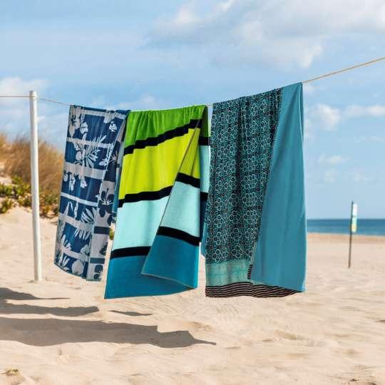 linvosges: Oh làlà! Französischer Chic Strandtuch Blaue Lagune