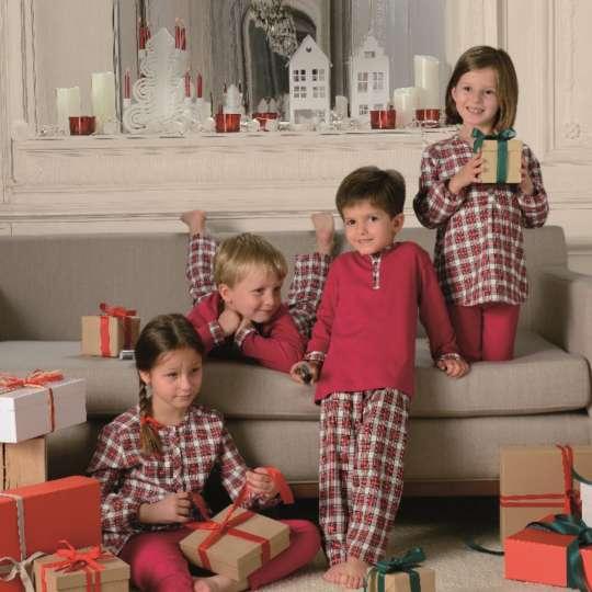 Linvosges: Winterkollektion - Kinderpyjama 'Familienabend'