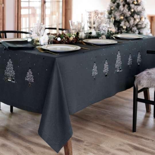 Linvosges: Winterkollektion - Tischdecke Mitternachtsstern