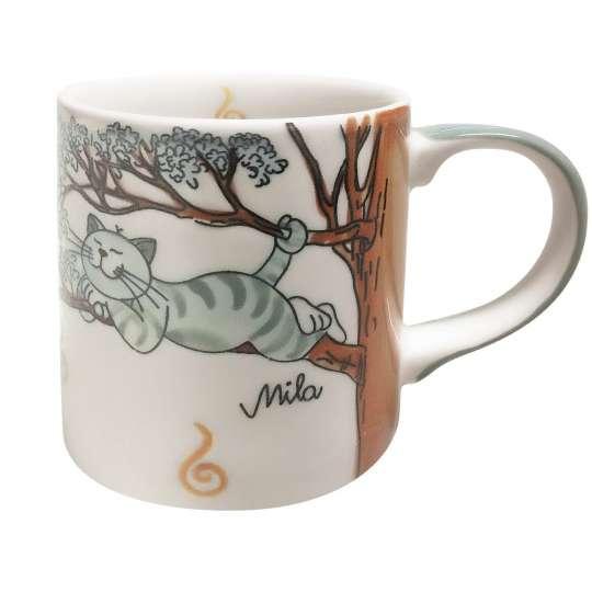 MILA Keramik - Katze Oommh - Becher