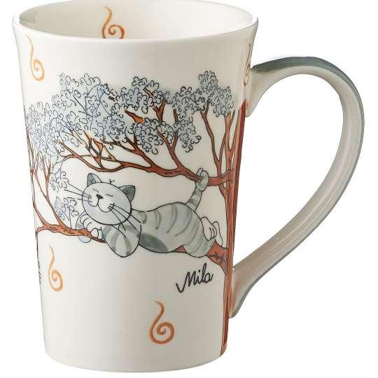 MILA Keramik - Katze Oommh - Kaffeebecher