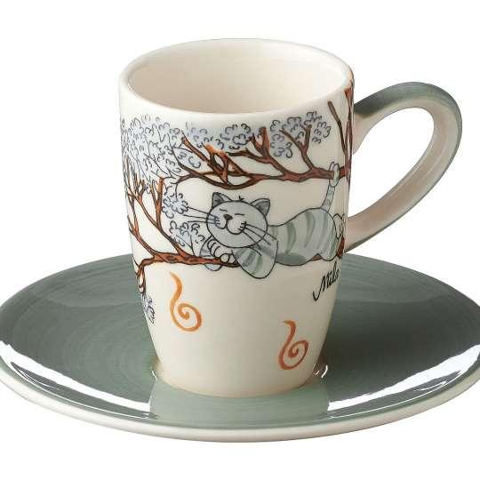 MILA Keramik - Katze Oommh - Espresso