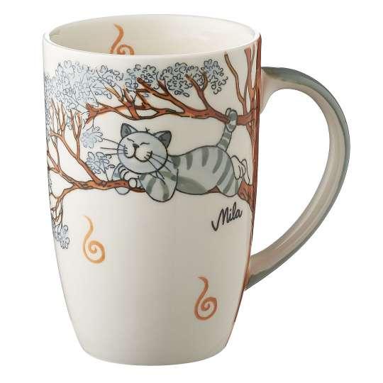 MILA Keramik - Katze Oommh - Designbecher