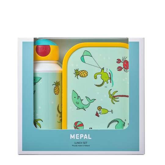 Mepal - Campus Pausenset - Verschlussbecher und Brotdose - Doodle Verpackung