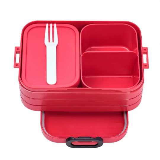 Mepal - To-Go-Range - TAB Lunchbox mit Bento-Einsatz, midi red
