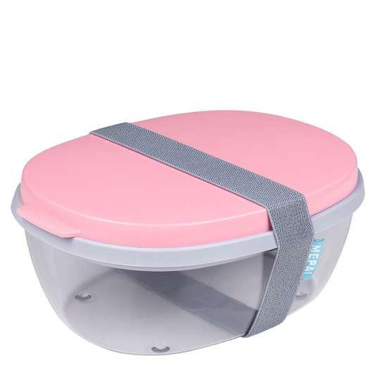 Mepal - To-Go-Range - Salatbox Ellipse, nordic pink