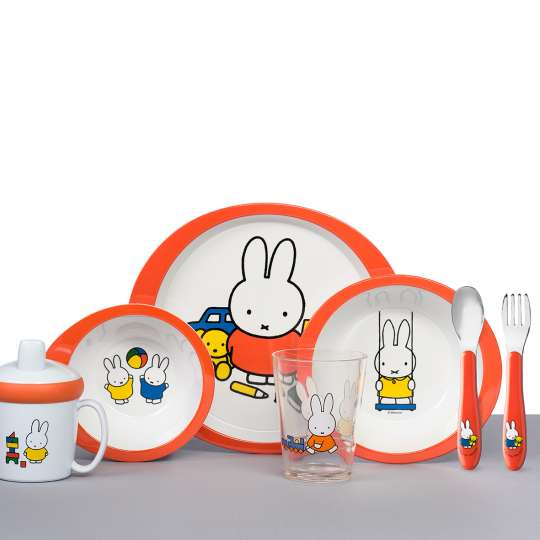 Mepal - Kinderdekore - Kindergeschirr-Set 5-teilig - miffy plays - alle