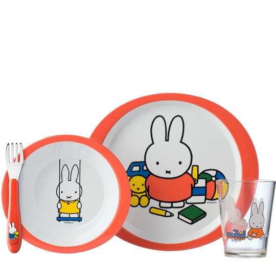 Mepal - Kinderdekore - Kindergeschirr-Set 5-teilig - miffy plays