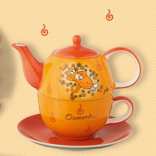 Mila Tee-Set Ommh / Katze