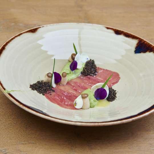 Neuseelandhirsch Carpaccio Alexander Dinter