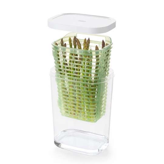 OXO GreenSaver Frischhaltebox Spargel groß 2,7 L