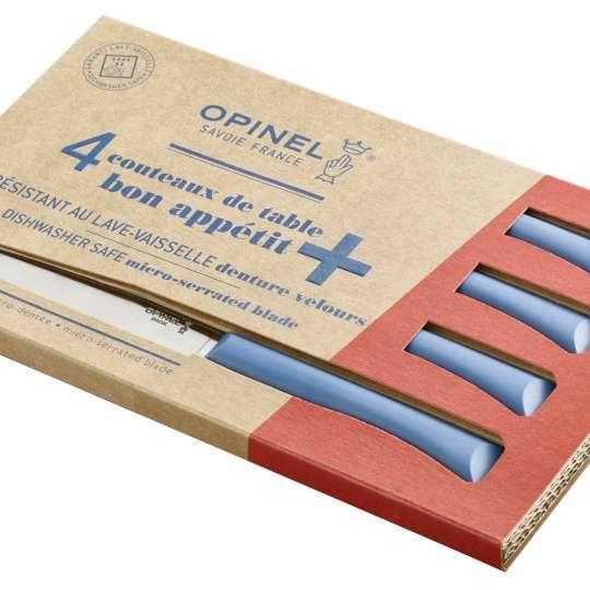 Opinel Bon Appetit+ Tafelmesser-Set blau - Verpackung quer