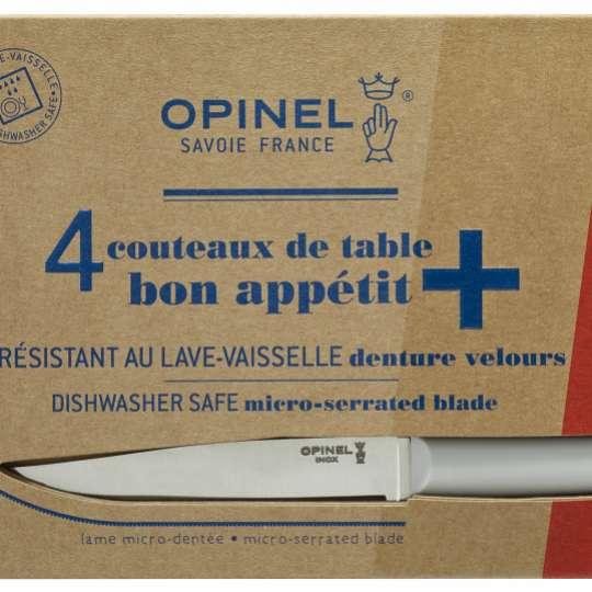 Opinel Bon Appetit+ Tafelmesser-Set hellgrau - Verpackung