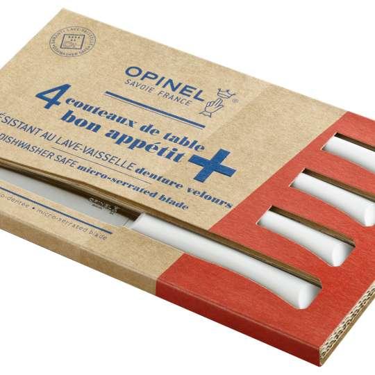 Opinel Bon Appetit+ Tafelmesser-Set hellgrau - Verpackung quer