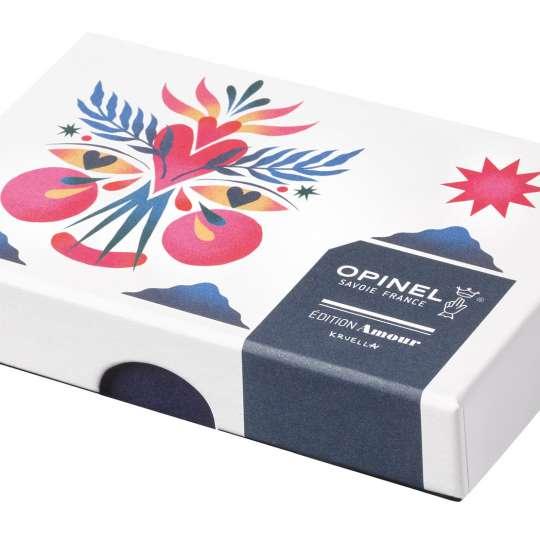 Opinel-Messer mit ganz viel Liebe: Serie Edition Amour / Design Kruella d'Enfer / Verpackung geschlossen