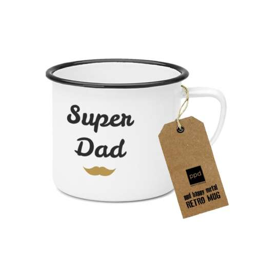 PPD Happy Metal Mug Superdad 603519