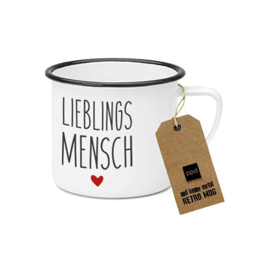 PPD Happy Metal Mug Lieblingsmensch 603520