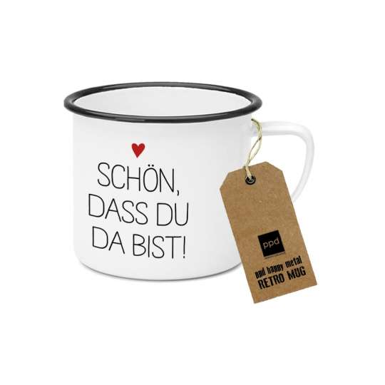 PPD Happy Metal Mug Du bist da 603521