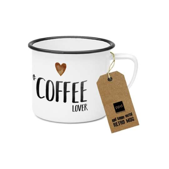 PPD Happy Metal Mug Coffee Lover 603523