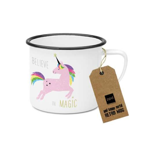PPD Happy Metal Mug Pink Unicorn 603524