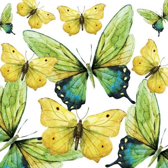 PPD 1252724 · Green Butterflies Napkin, 25x25 cm / Servietten