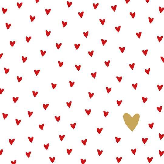 PPD 1333282 · Little Hearts Napkin, 33x33 cm / Servietten