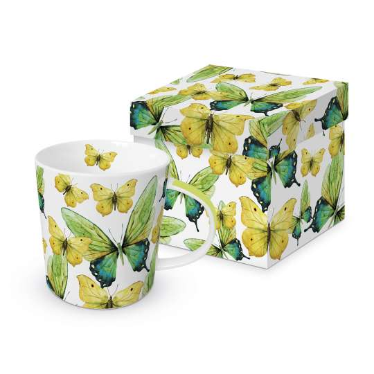 PPD 603566· Green Butterflies Trend Mug Giftbox / Becher in Geschenkbox