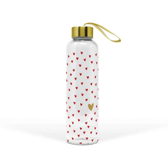 PPD 603642 · Little Hearts real gold Glass Bottle / Trinkflasche