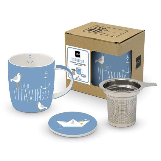 Beach Vitamin Sea Mug Lid & Strainer Cardboard