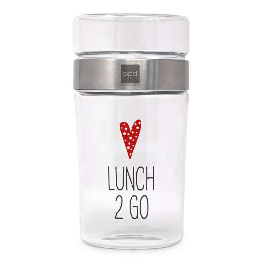 Lunch 2 Go Style Snack2Go Glass