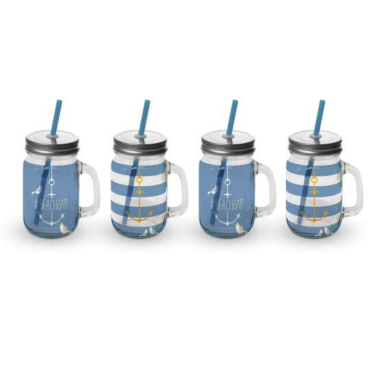 Beach Party Tumbler of 4