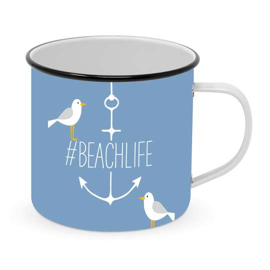 Beach Happy Metal Mug