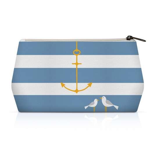 Beach Anchor Canvas Cosmetic Bag