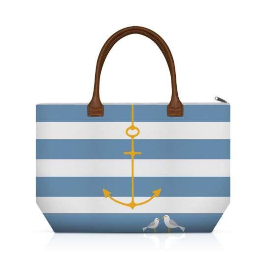 Beach Anchor Canvas Shopping Bag