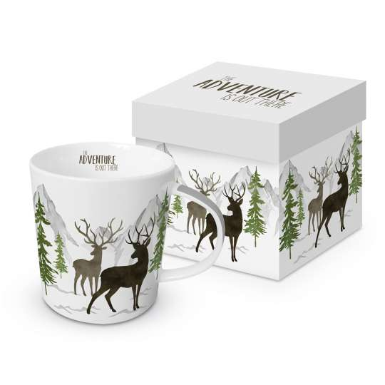 604105· Adventure Deer white Trend Mug