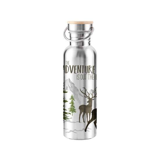 604110· Adventure Deer white Stainless Steel Bottle