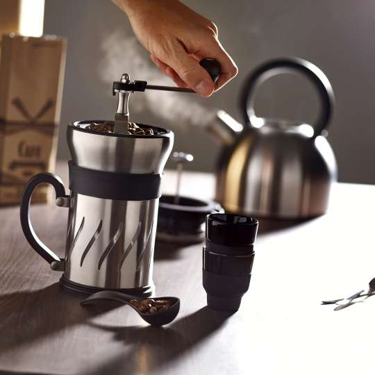 Peugeot Paris Press Kaffeemühle Stimmungsbild