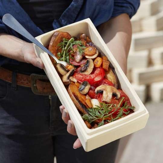 Römertopf: der Brick, Milieu, mediterranes Gemüse